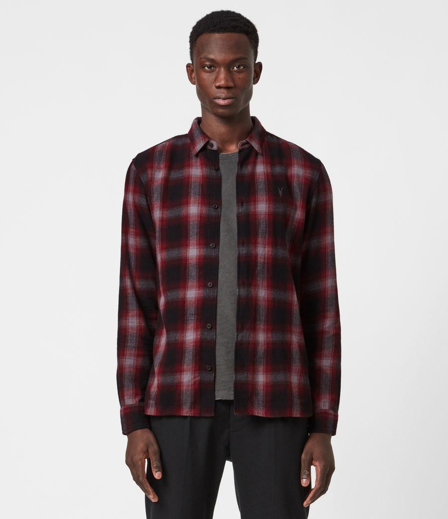 Herren Dieffen Hemd (black_red) - Image 1