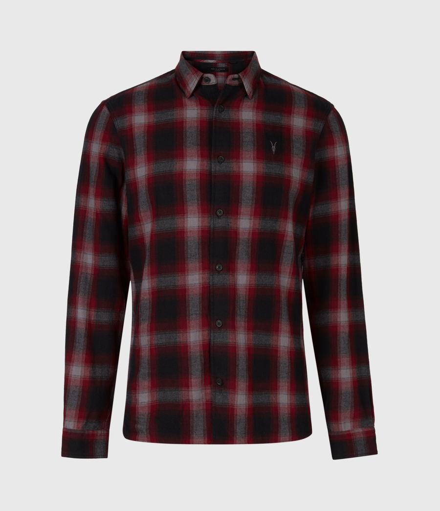 Herren Dieffen Hemd (black_red) - Image 2