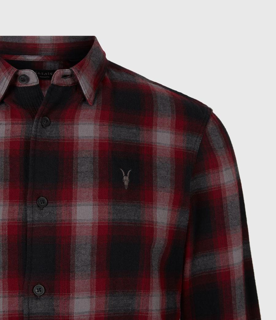 Herren Dieffen Hemd (black_red) - Image 5
