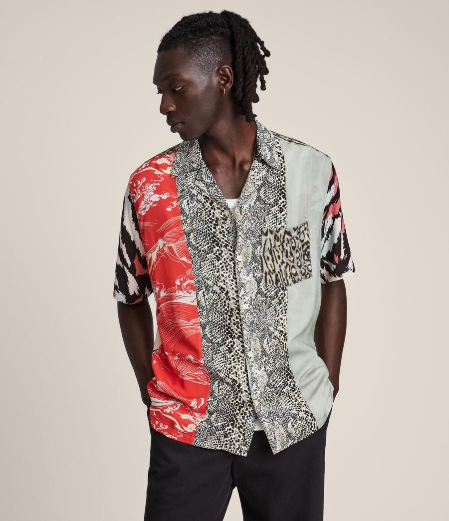 Mens Convert Shirt (black_ecru) - Image 1