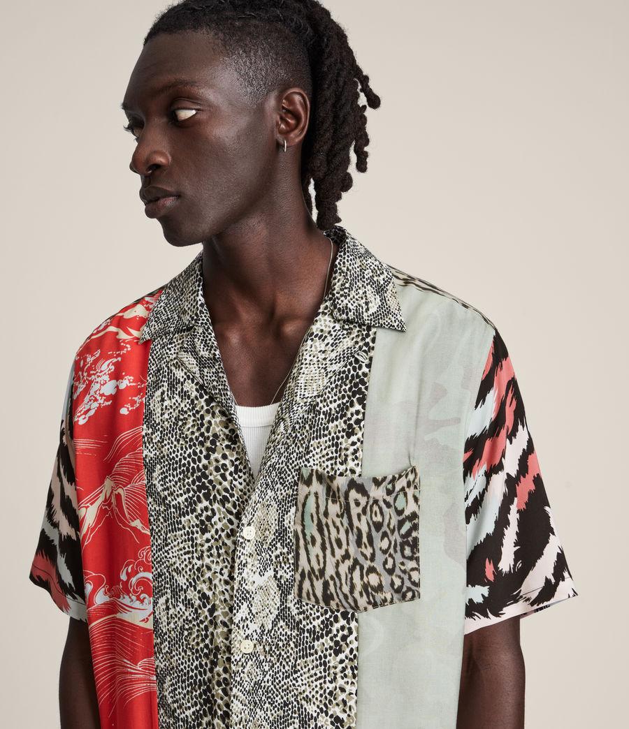 Mens Convert Shirt (black_ecru) - Image 2