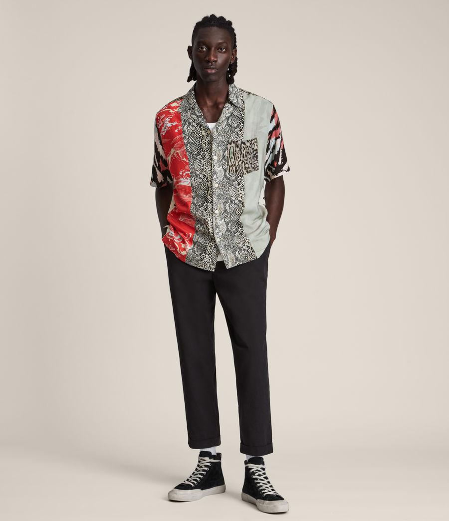 Mens Convert Shirt (black_ecru) - Image 3
