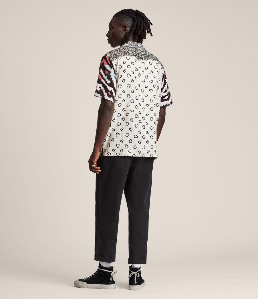Mens Convert Shirt (black_ecru) - Image 5