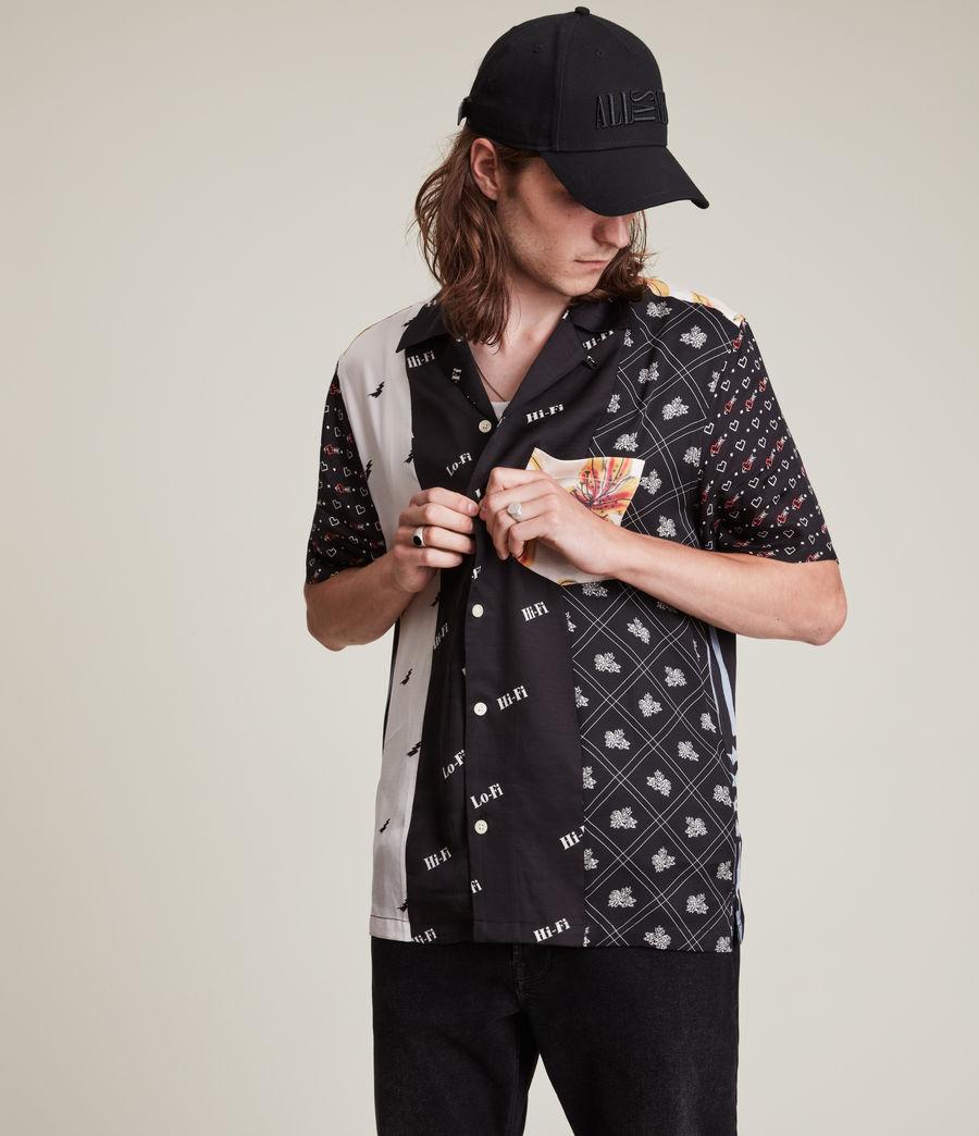 Men's Reclaim Shirt (black_ecru) - Image 2