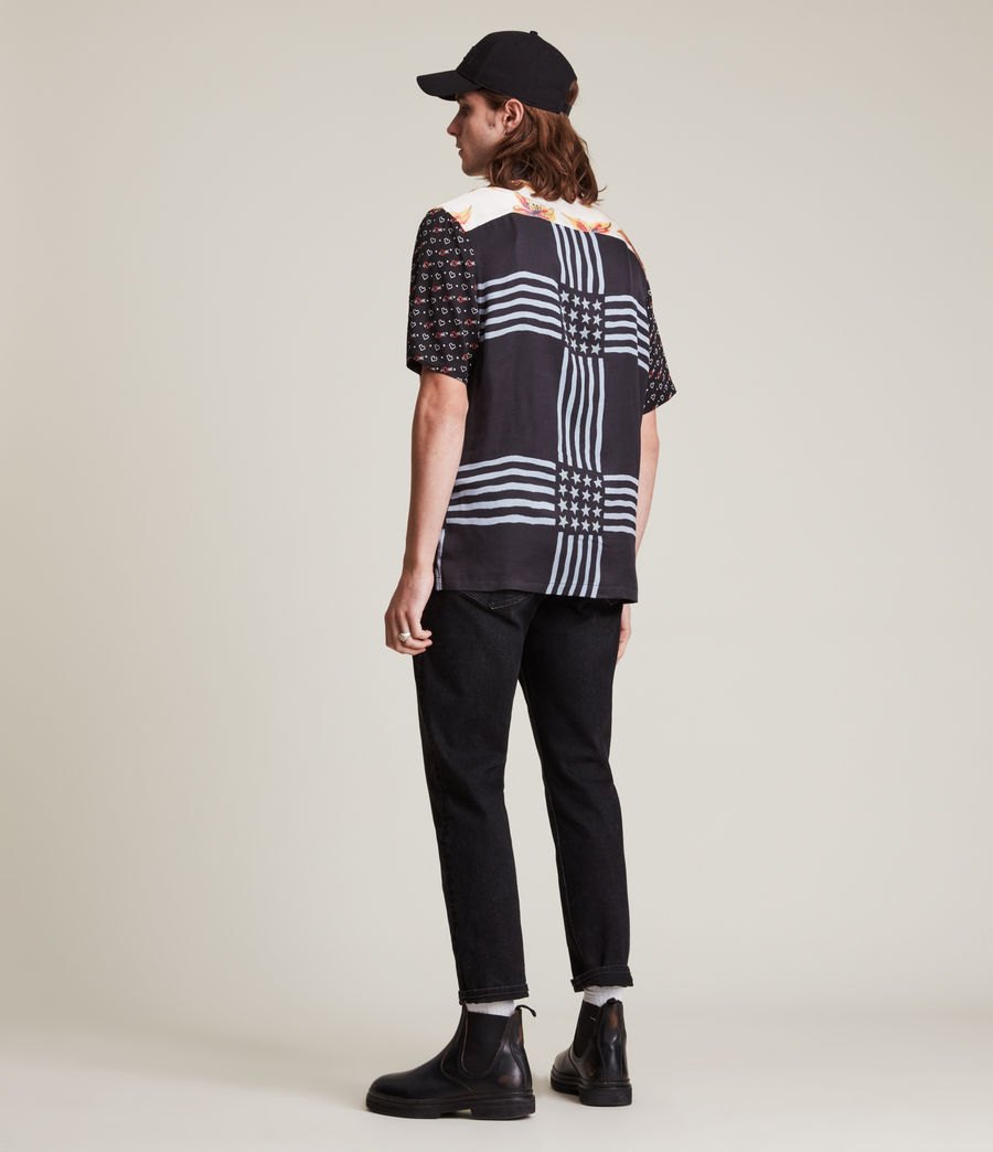 Men's Reclaim Shirt (black_ecru) - Image 4
