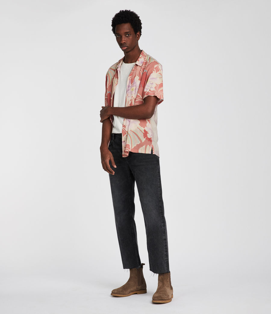 Men's Helix Hawaiian Shirt (sunset) - Image 1