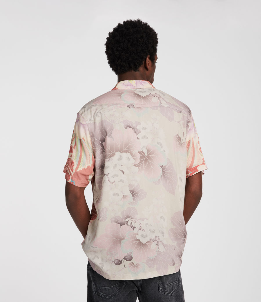 Men's Helix Hawaiian Shirt (sunset) - Image 2