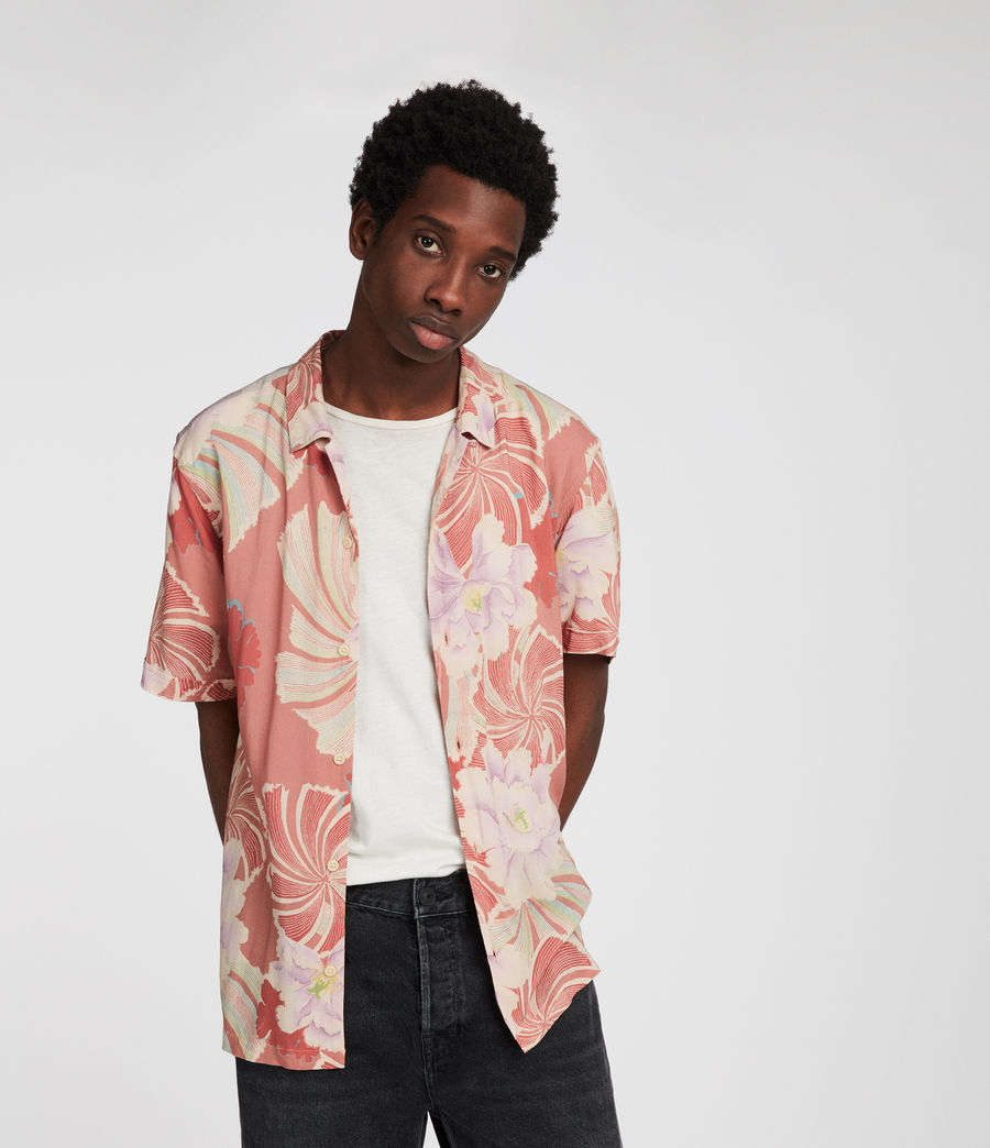 Mens Helix Hawaiian Shirt (sunset) - Image 3