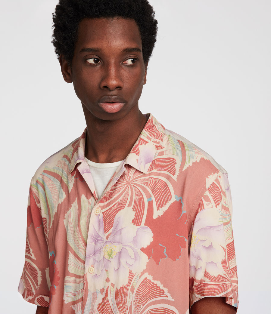 Men's Helix Hawaiian Shirt (sunset) - Image 6