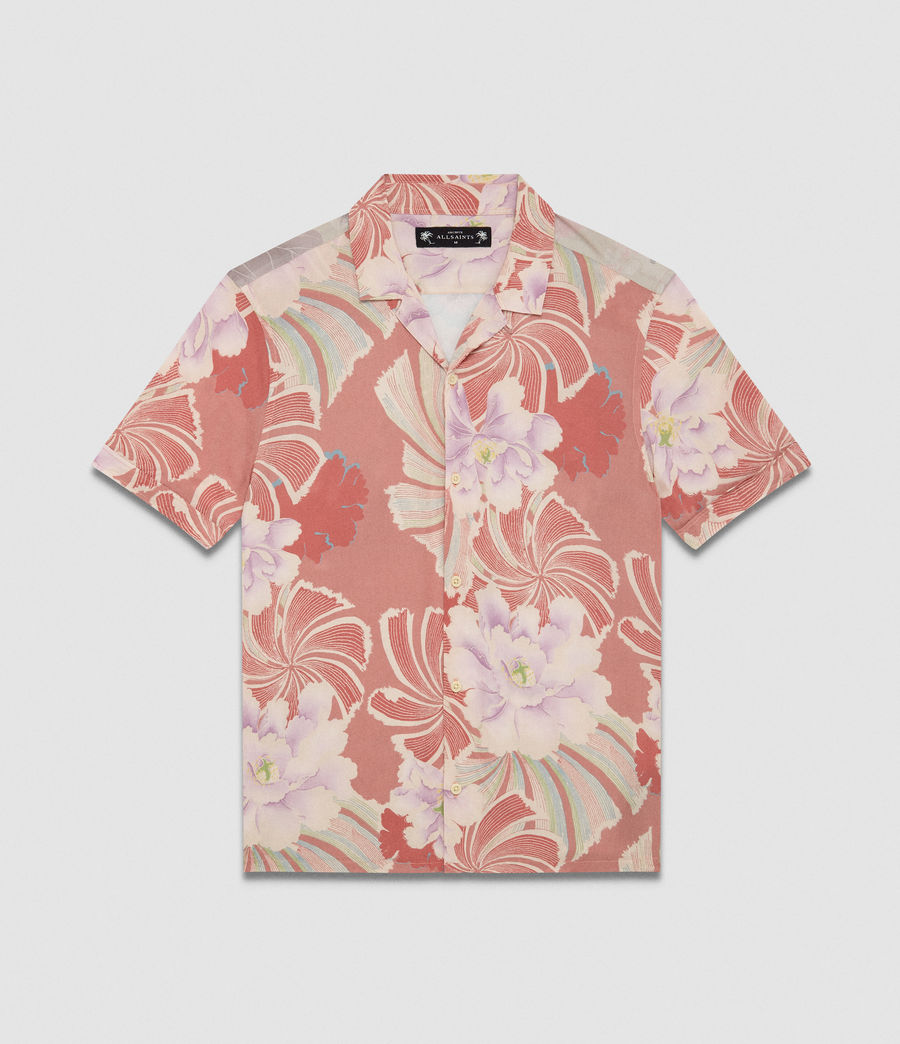 Men's Helix Hawaiian Shirt (sunset) - Image 7