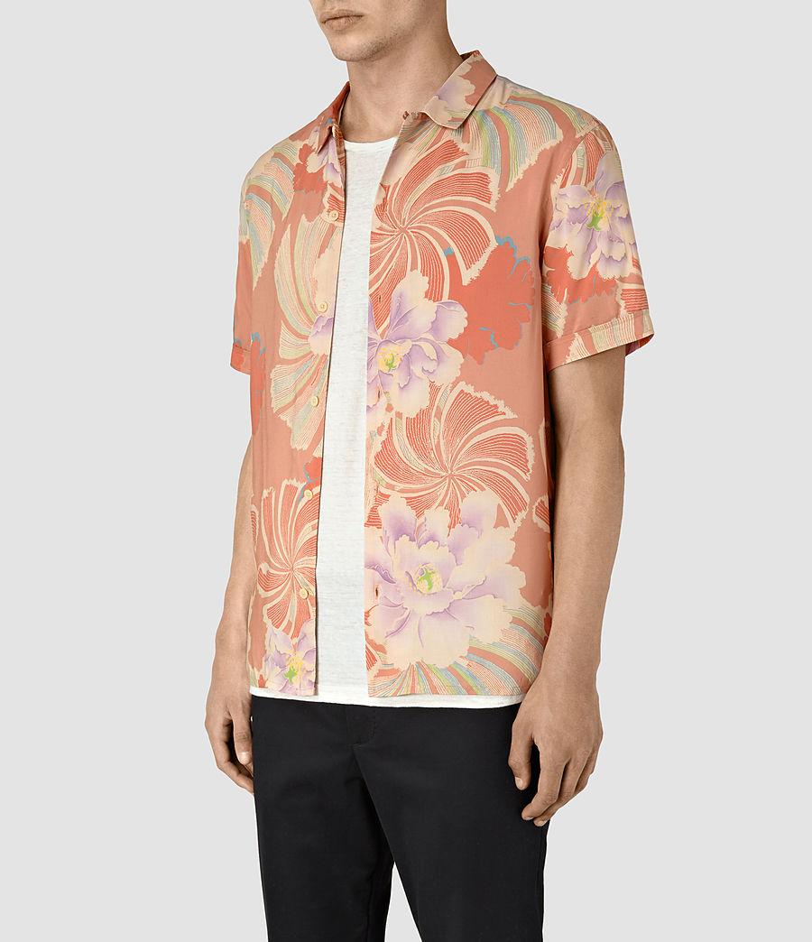 Hommes Helix Hawaiian Shirt (sunset_red) - Image 2