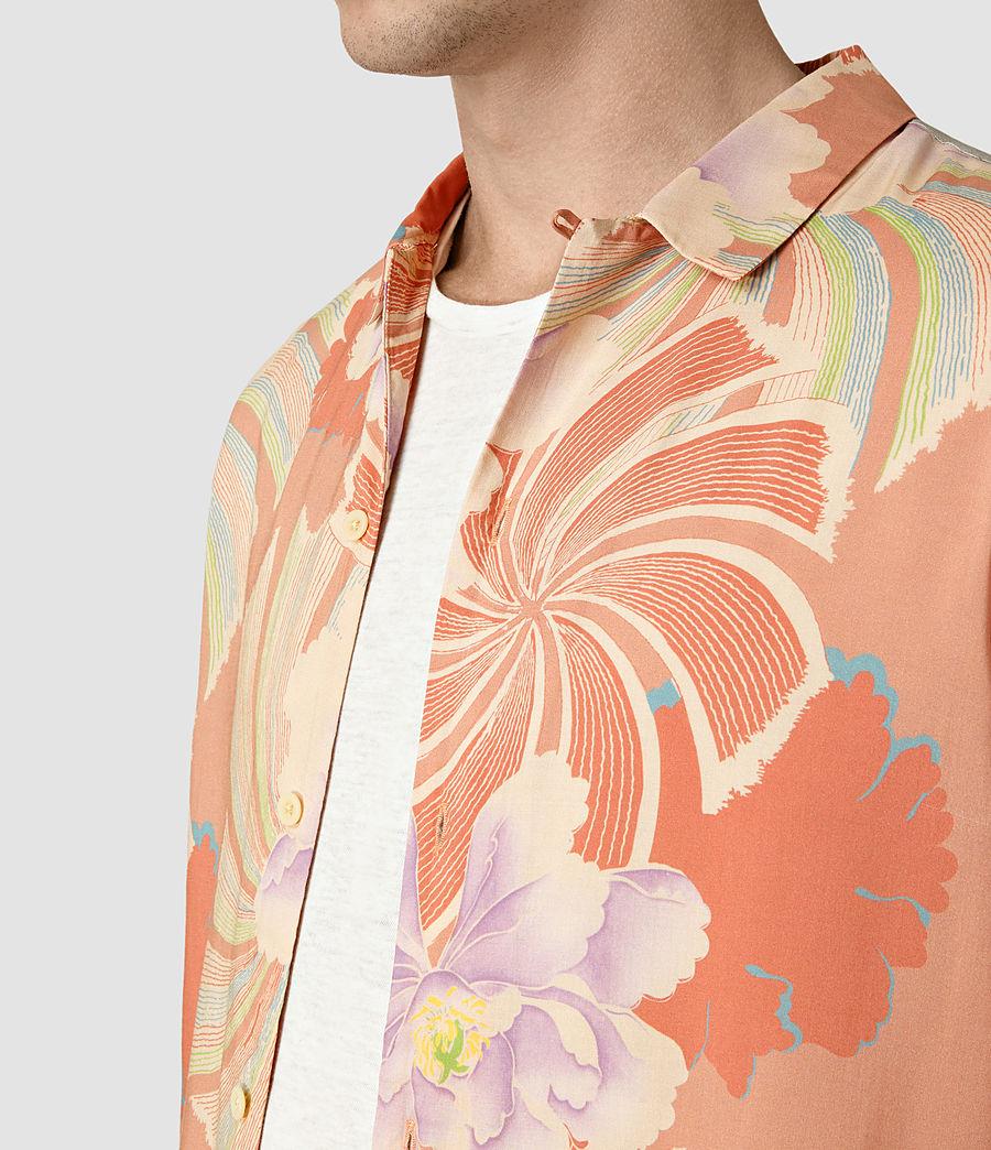 Hommes Helix Hawaiian Shirt (sunset_red) - Image 4