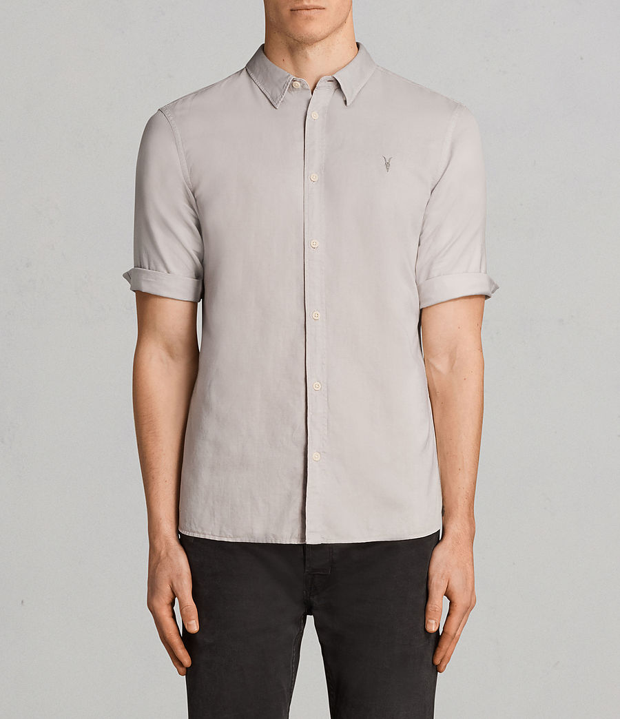 Mens Westlake Half Sleeve Shirt (pebble_grey) - Image 1