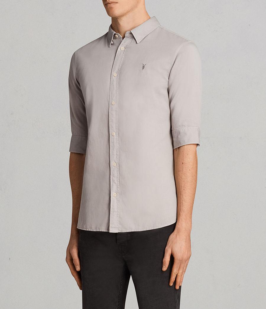 Mens Westlake Half Sleeve Shirt (pebble_grey) - Image 3