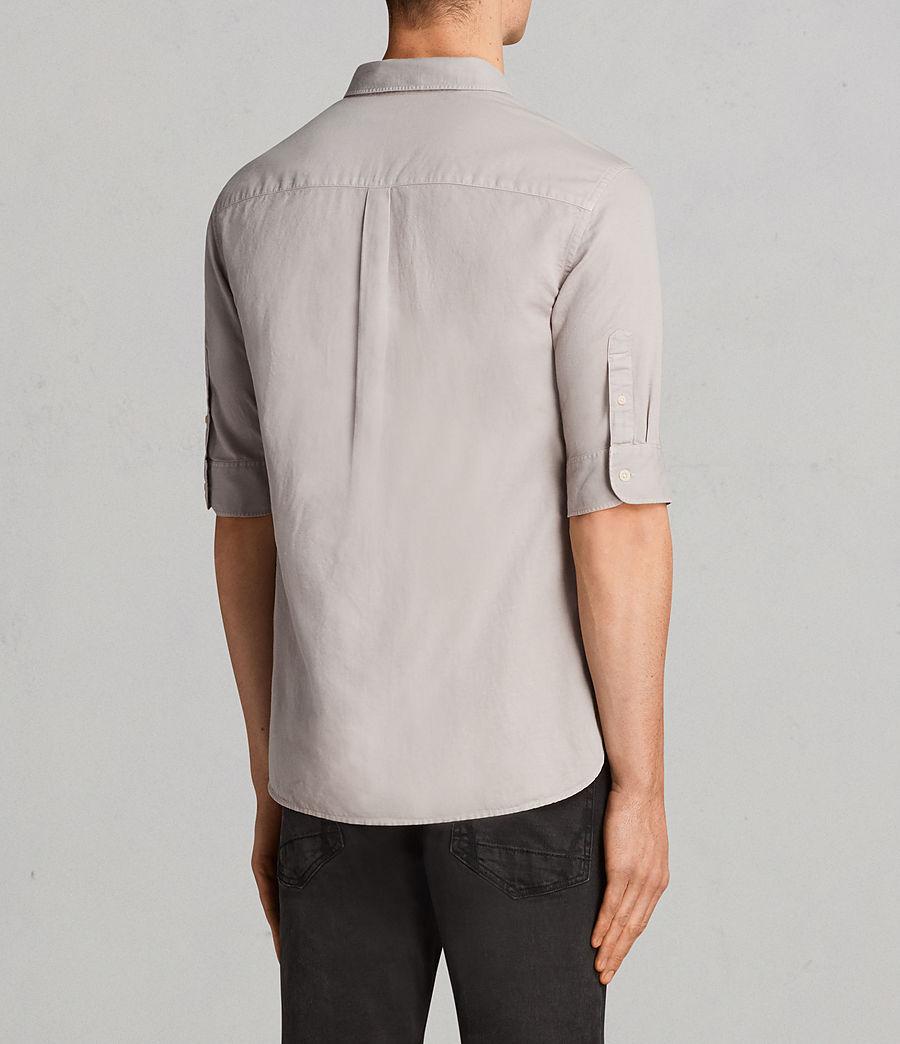 Mens Westlake Half Sleeve Shirt (pebble_grey) - Image 4