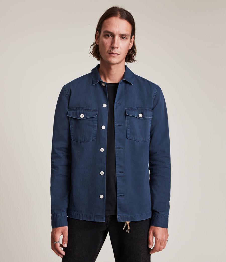 Hommes Spotter Shirt (deep_gulf_blue) - Image 1