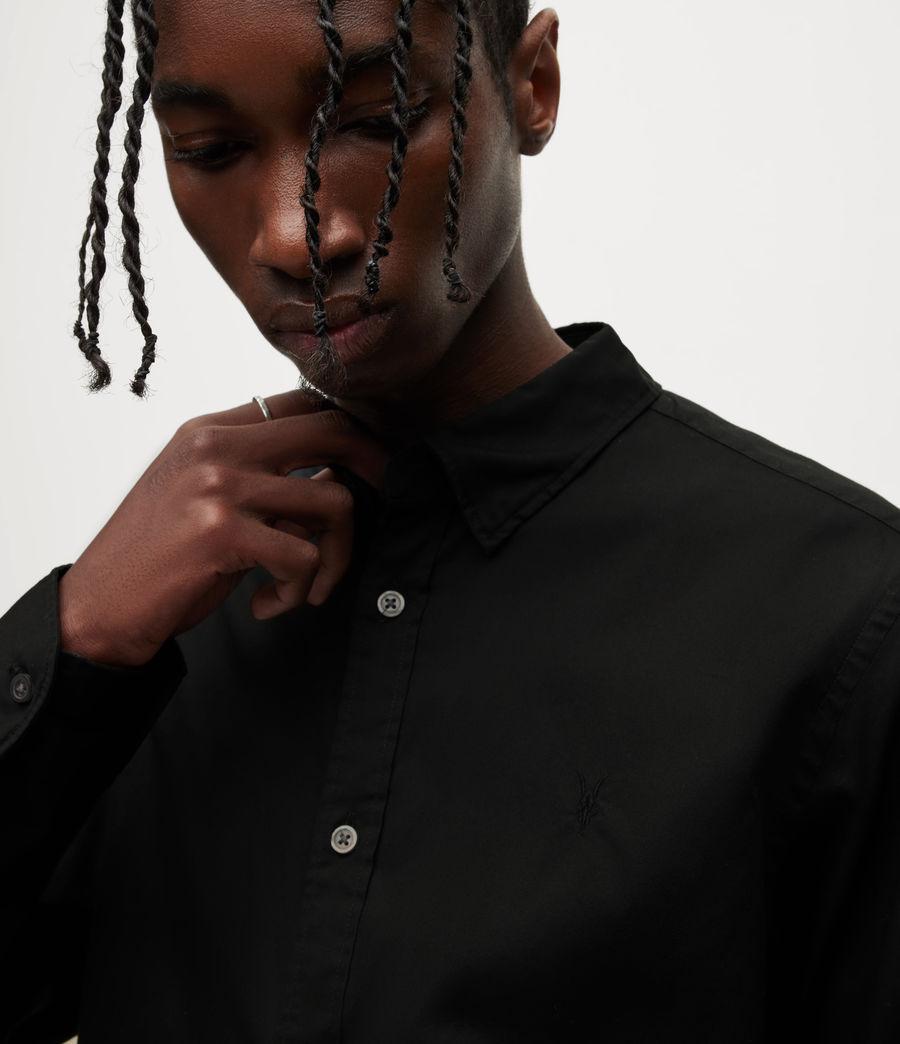Men's Hawthorne Stretch Fit Shirt (black) - Image 4