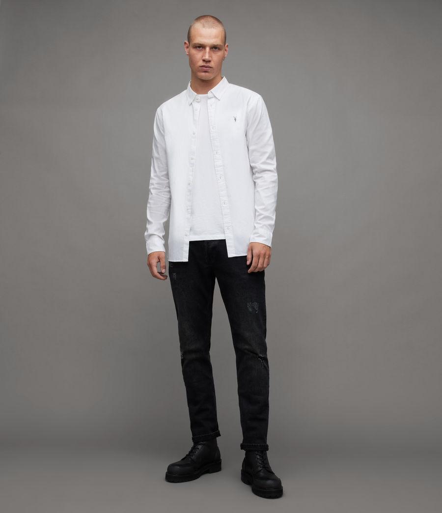 Men's Hawthorne Stretch Fit Shirt (white) - Image 4