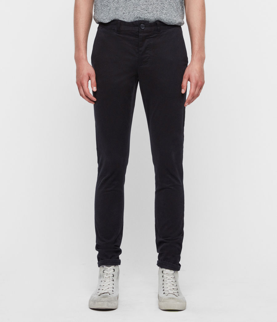 Men's Park Skinny Chinos (black) - Image 1