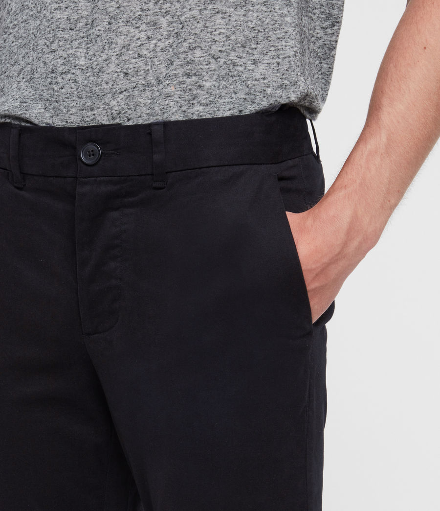 Men's Park Skinny Chinos (black) - Image 2