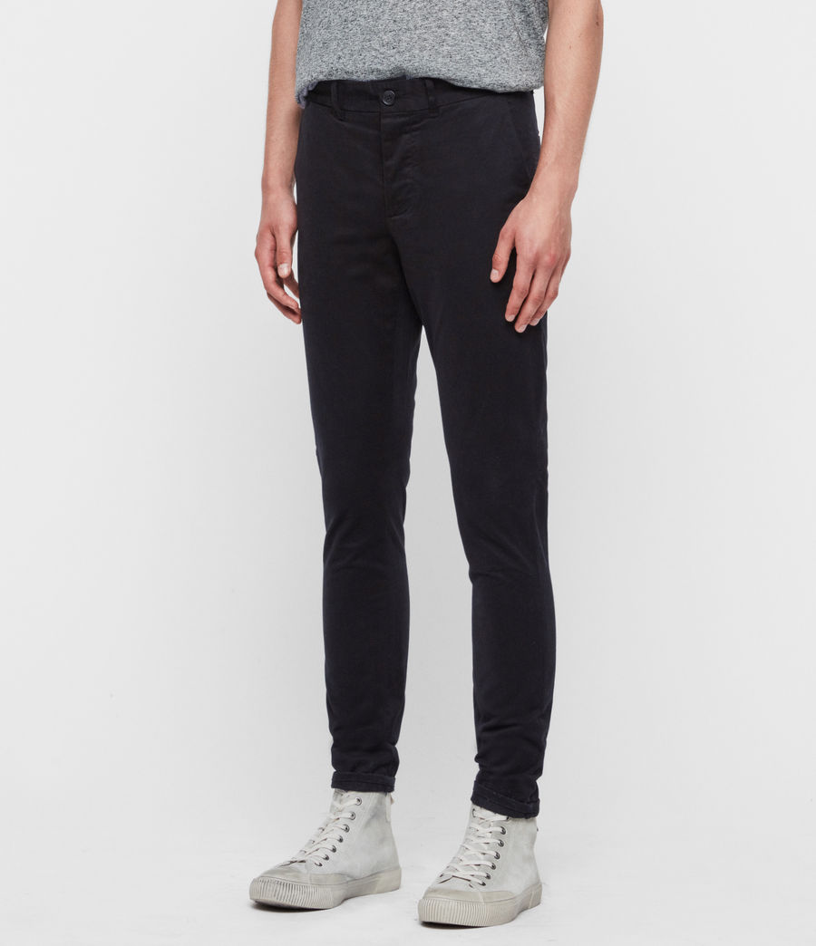Men's Park Skinny Chinos (black) - Image 4