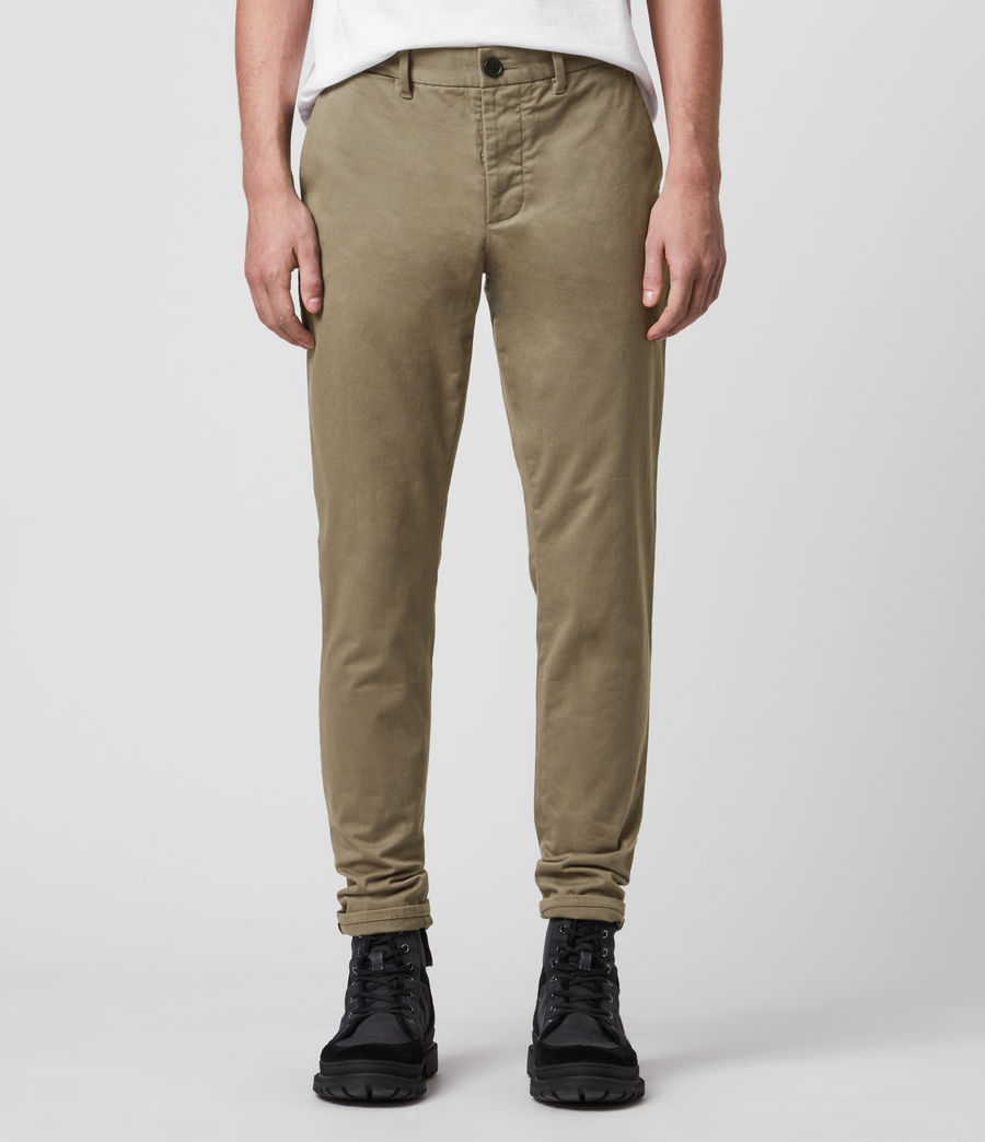 Hombres Park Skinny Chinos (sage_green) - Image 3