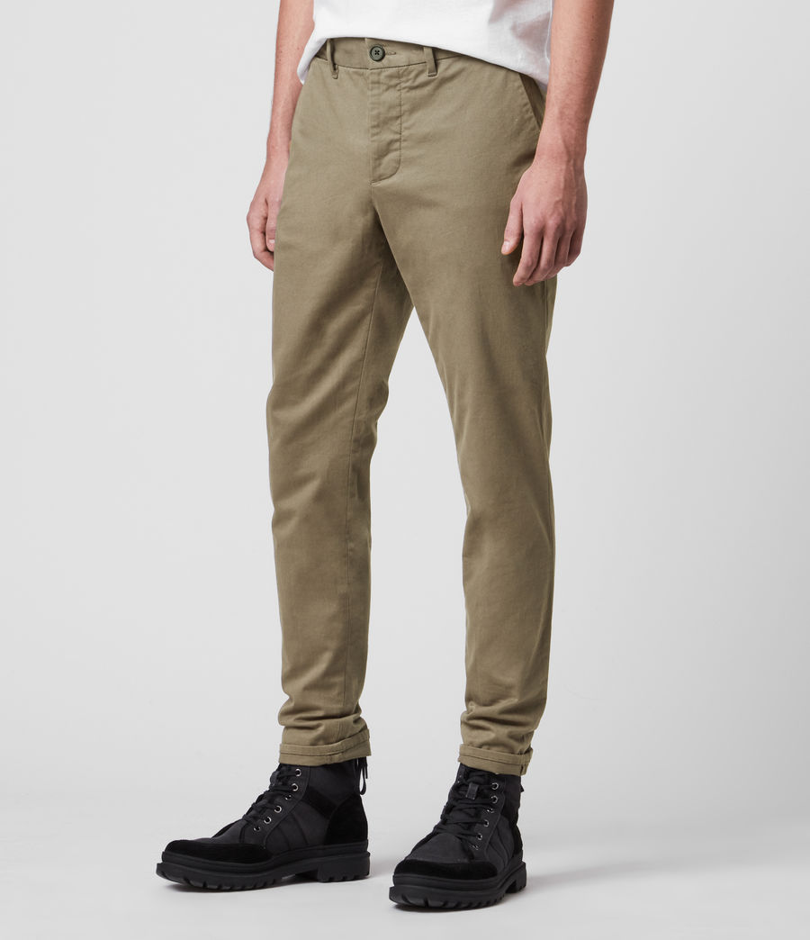 Hombres Park Skinny Chinos (sage_green) - Image 4
