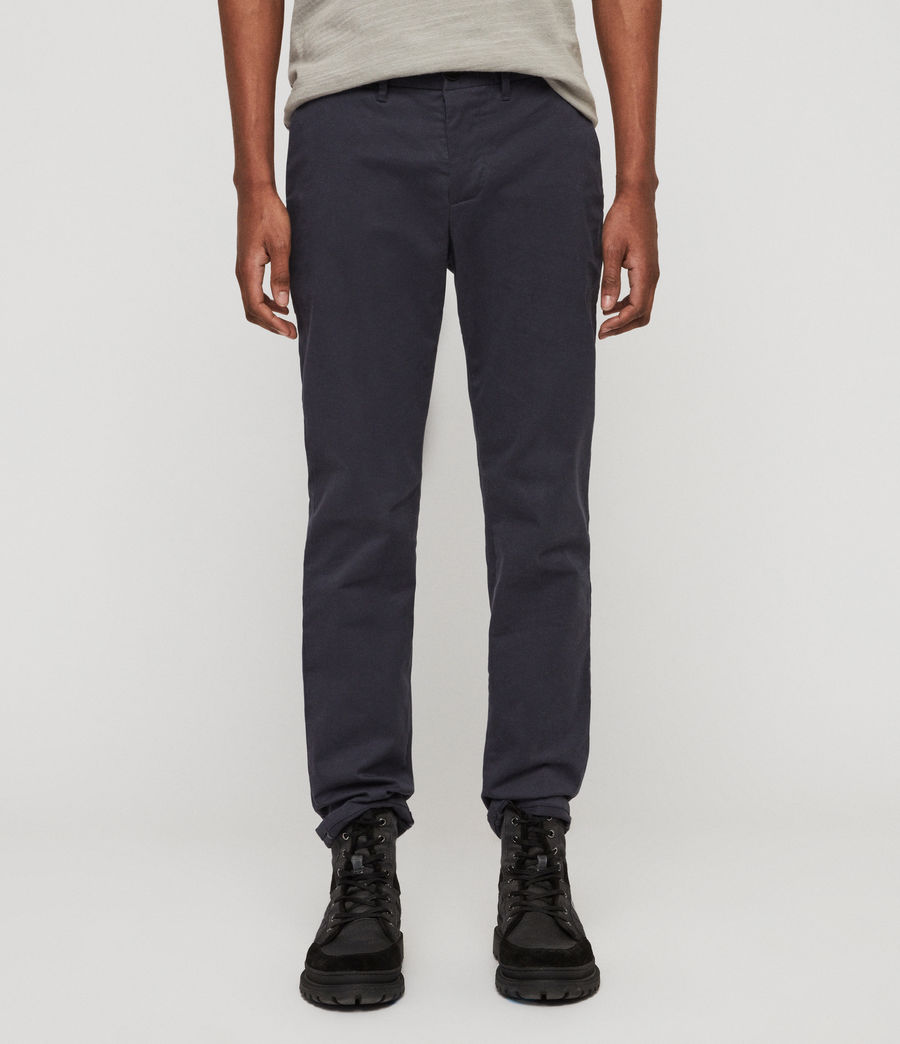 Mens Park Chinos (iron_blue) - Image 1