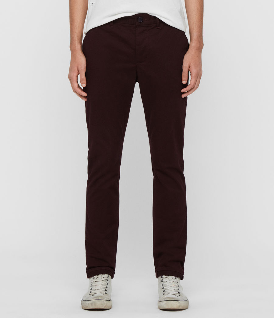 Men's Park Skinny Chinos (mahogany_red) - Image 1