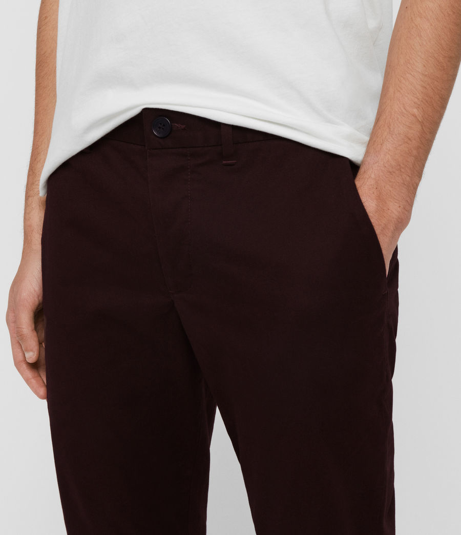 Men's Park Skinny Chinos (mahogany_red) - Image 2