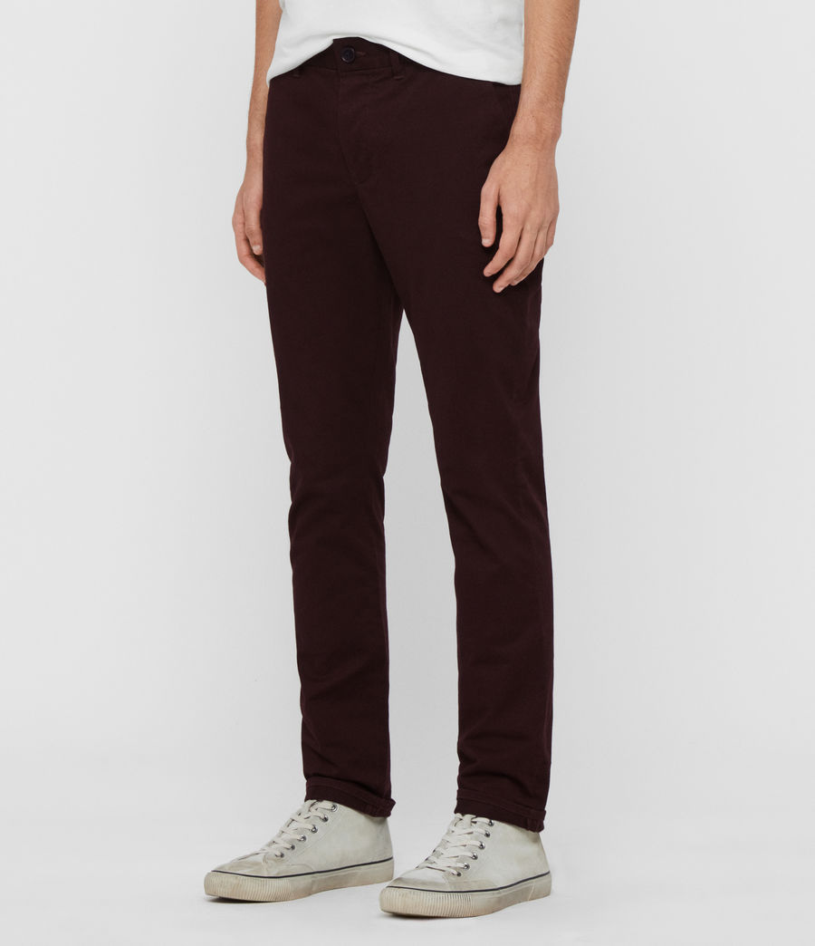 Men's Park Skinny Chinos (mahogany_red) - Image 4