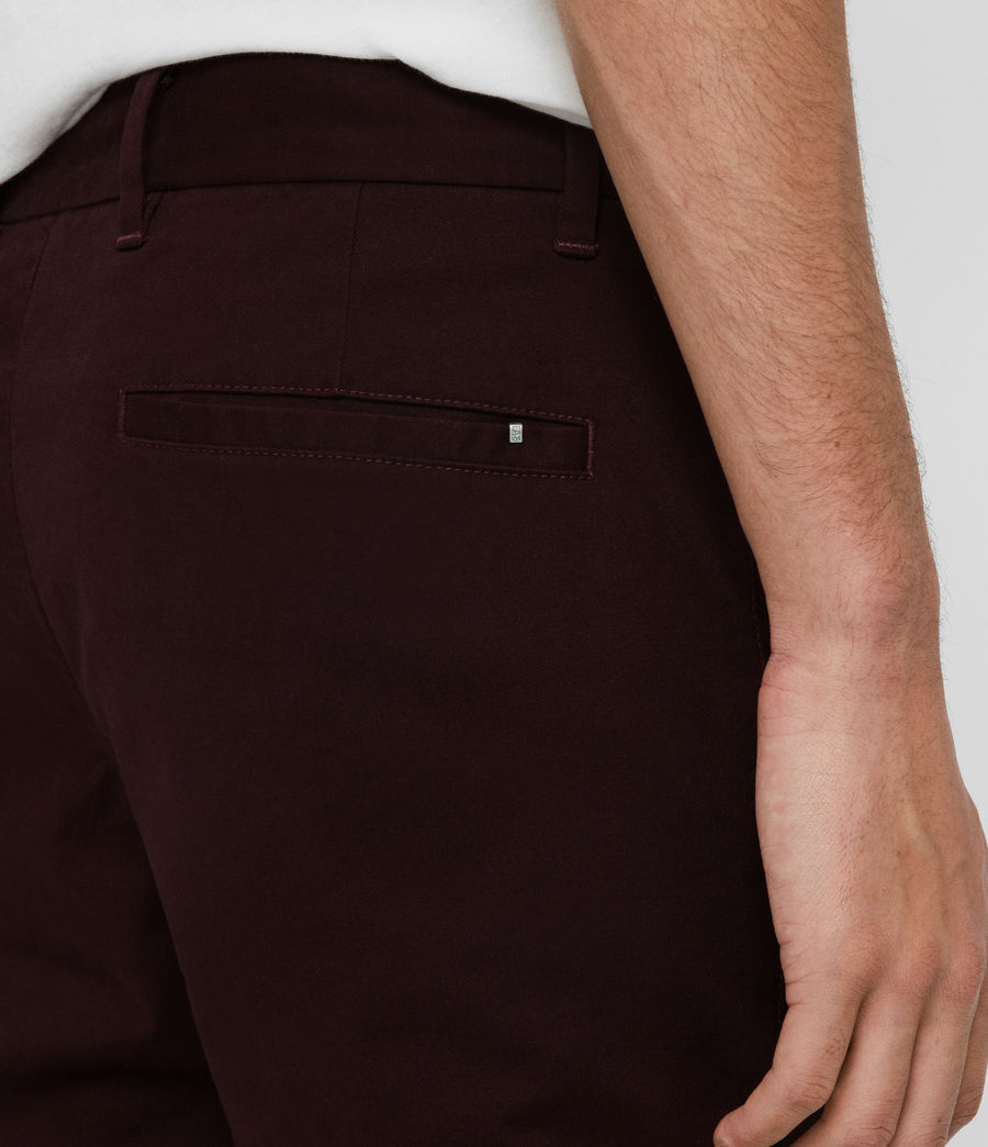 Men's Park Skinny Chinos (mahogany_red) - Image 5