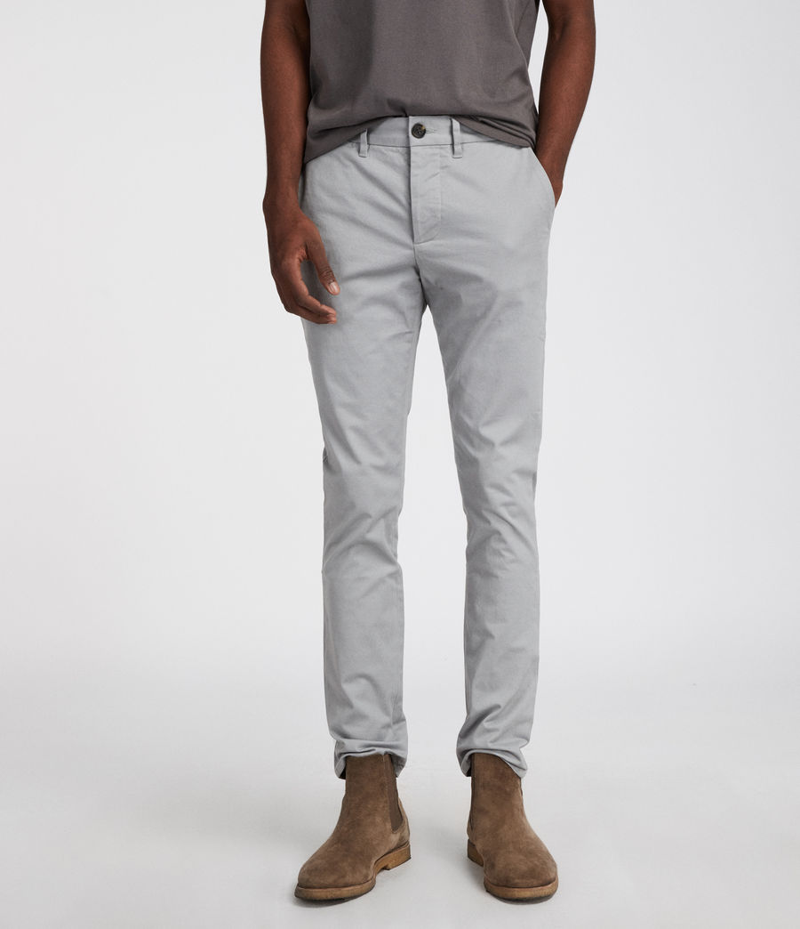Mens Park Chino (smoke_blue) - Image 1