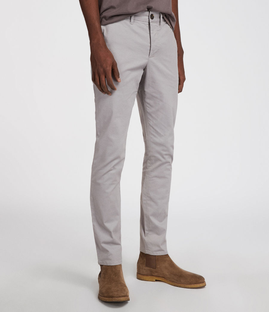 Mens Park Chino (smoke_blue) - Image 4