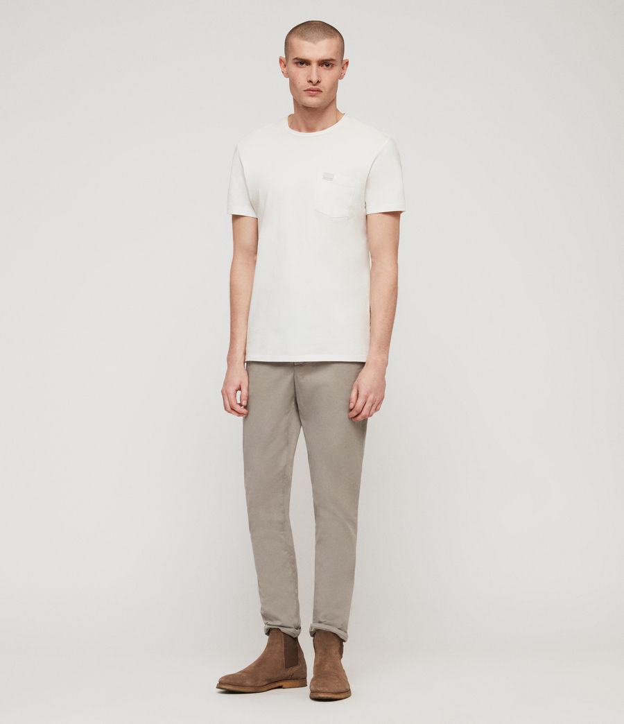 Mens Park Skinny Chinos (dove_grey) - Image 1