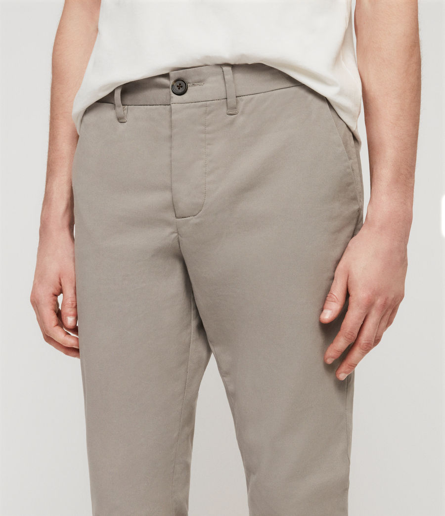 Mens Park Skinny Chinos (dove_grey) - Image 2