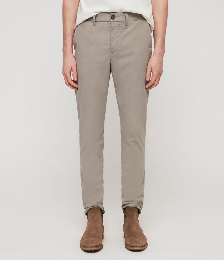 Mens Park Skinny Chinos (dove_grey) - Image 3