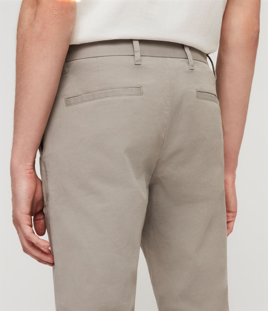 Mens Park Skinny Chinos (dove_grey) - Image 4