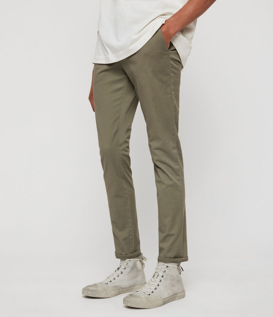 Men's Park Skinny Chinos (dove_grey) - Image 4