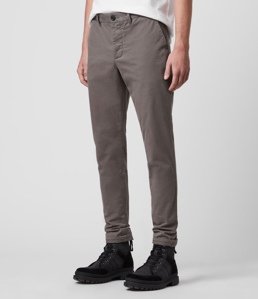 Men's Park Skinny Chinos (tile_grey) - Image 2