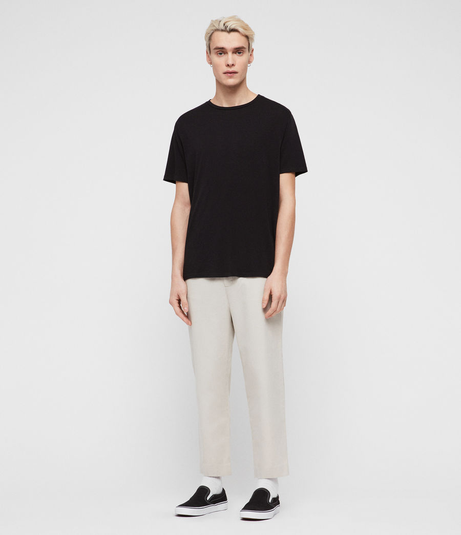 Mens Muro Cropped Tapered Chinos (sand) - Image 3