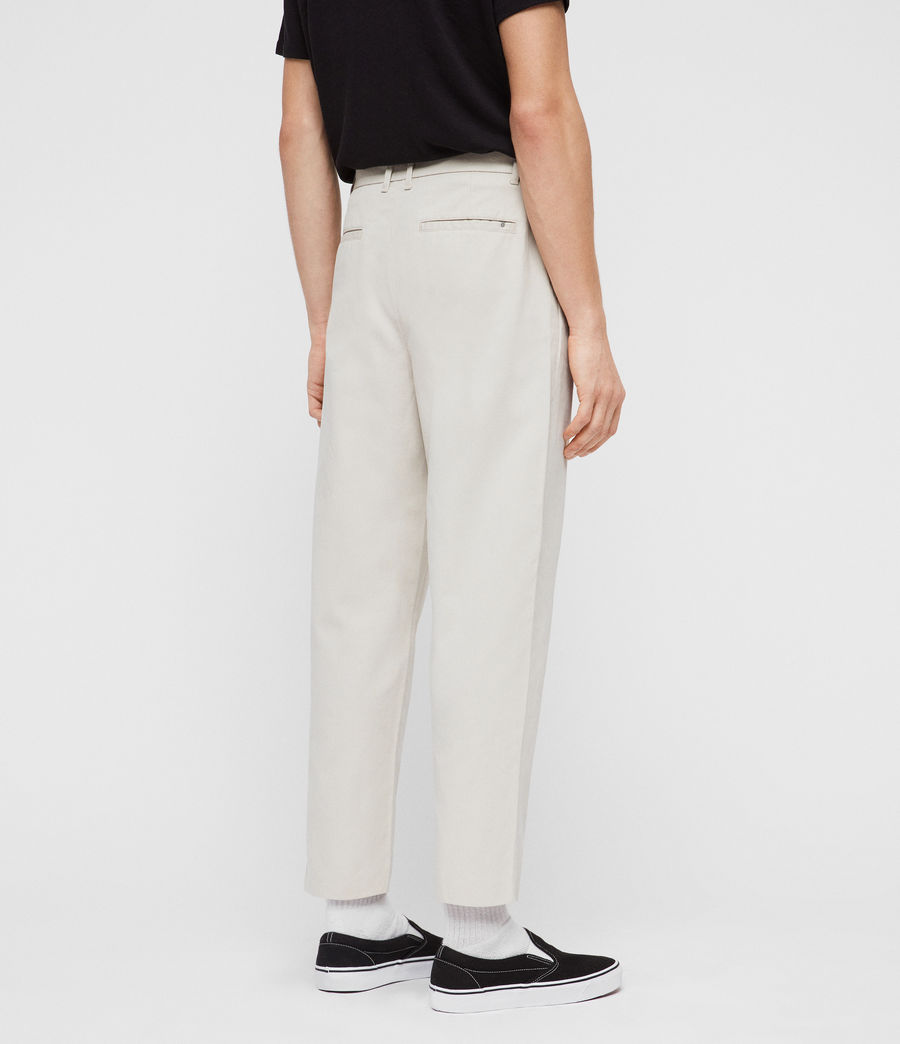 Mens Muro Cropped Tapered Chinos (sand) - Image 4