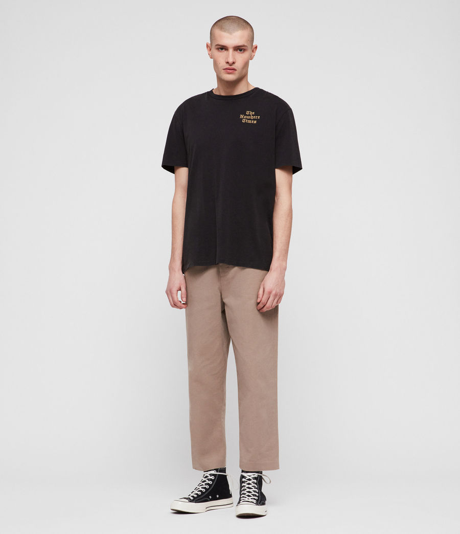 Men's Muro Cropped Tapered Chinos (sand) - Image 3