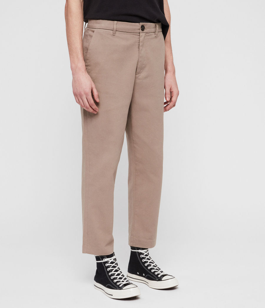 Men's Muro Cropped Tapered Chinos (sand) - Image 4