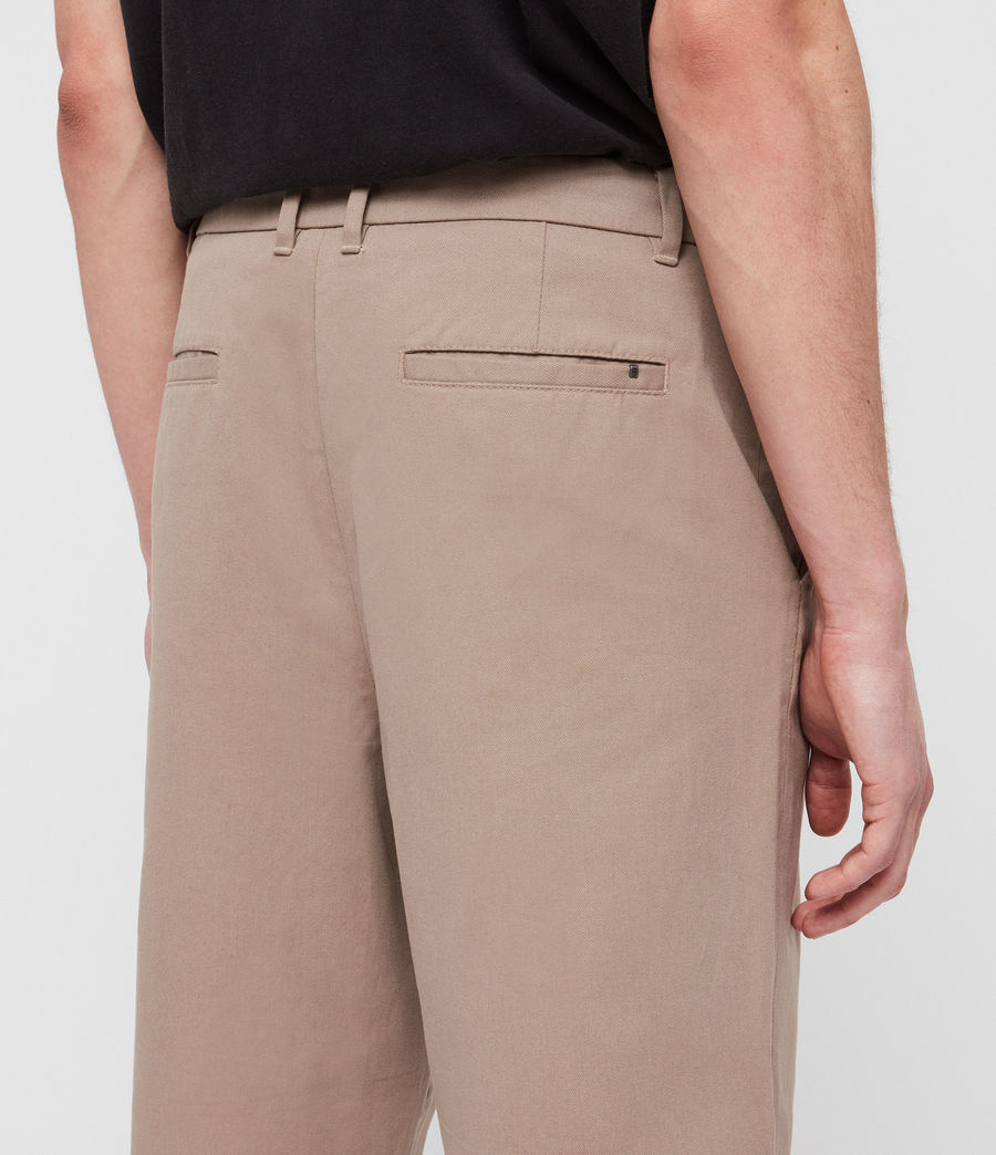 Mens Muro Cropped Tapered Chinos (sand) - Image 5