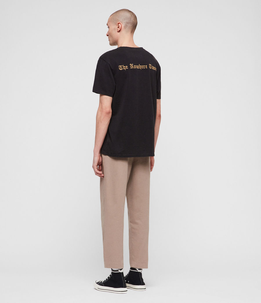 Mens Muro Cropped Tapered Chinos (sand) - Image 6