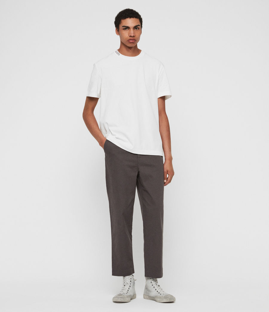 Men's Muro Cropped Tapered Chinos (slate_grey) - Image 1