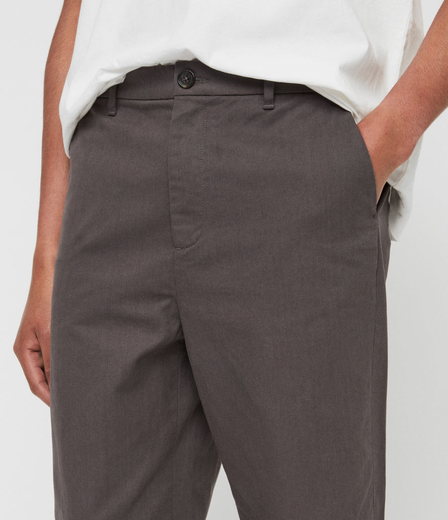 Mens Muro Cropped Tapered Chinos (slate_grey) - Image 1
