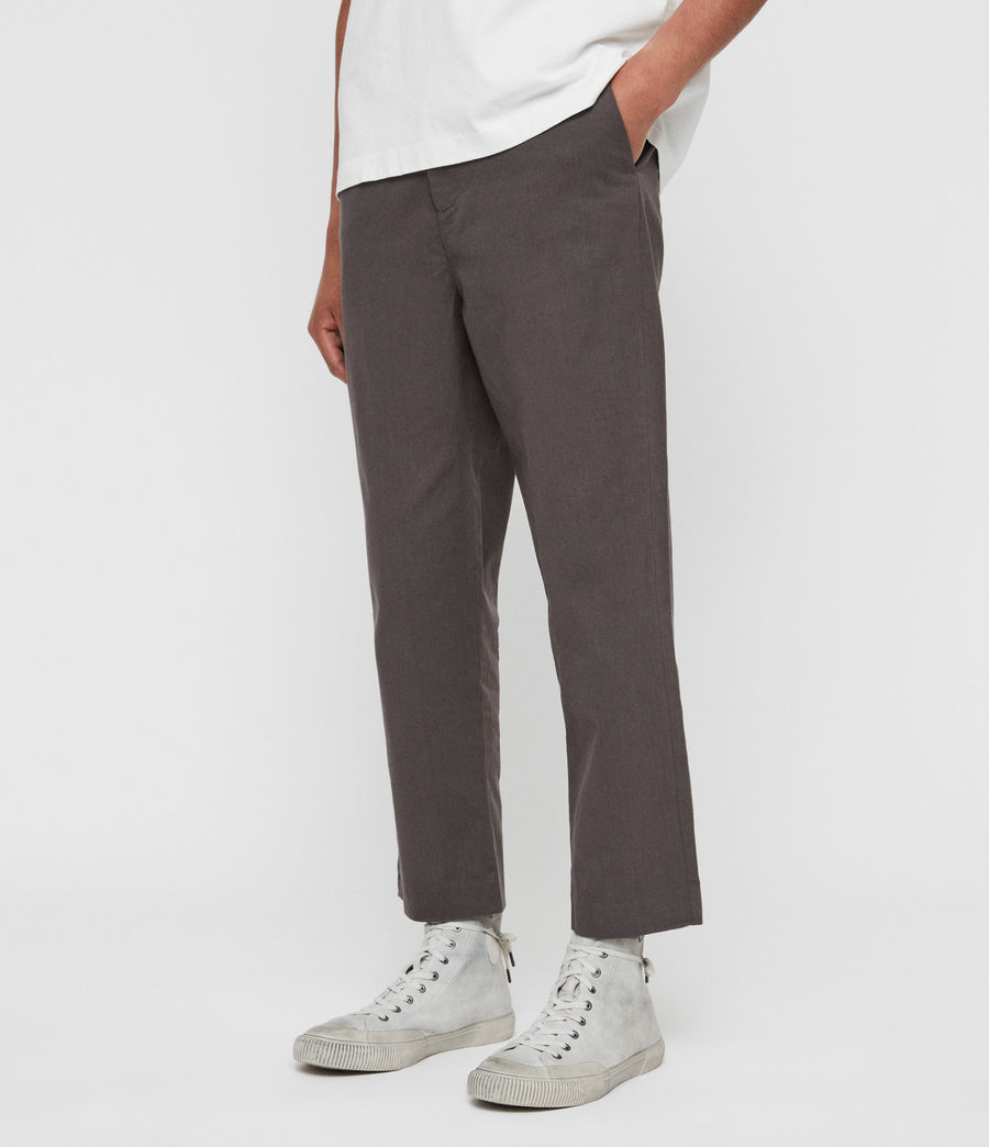 Mens Muro Cropped Tapered Chinos (slate_grey) - Image 2
