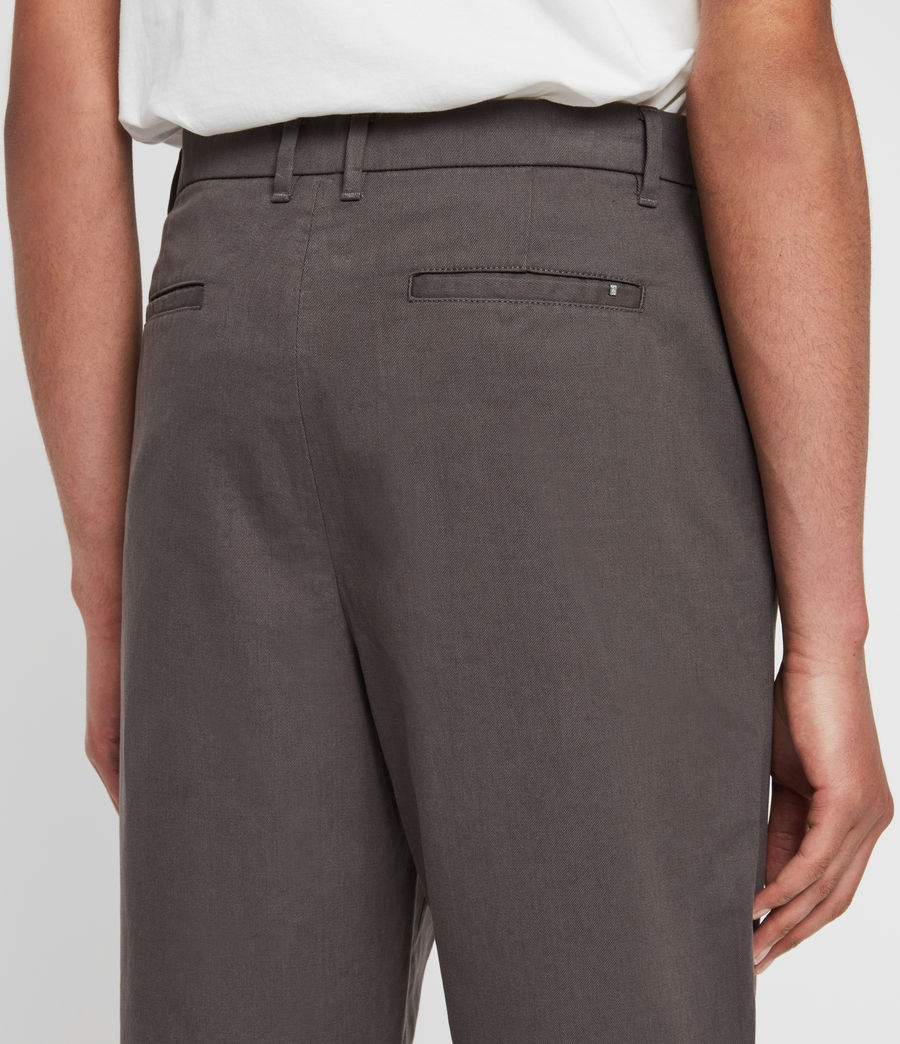 Mens Muro Cropped Tapered Chinos (slate_grey) - Image 3